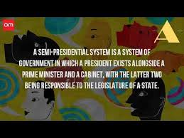 Define Presidential Cabinet What Is A Semi Presidential System Of Government Youtube