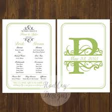 fall wedding programs hadley designs programs
