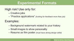 Format Of A Resume For Job Application by How To Write A Neat Resume 13 Steps With Pictures Wikihow