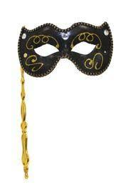 black and gold masquerade masks black venetian masquerade mask on a stick w acrylic stones w fabric