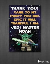 wars thank you cards wars party picmia