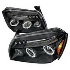 2007 dodge dakota lights 07 dodge magnum black dual halo projector led headlights