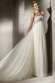 wedding dresses maternity empire strapless tulle maternity wedding dress with removable