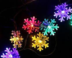 amazon com inngree snowflake solar string light 20 ft 30 led