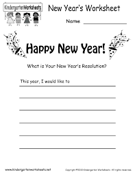 new year u0027s worksheet free kindergarten holiday worksheet for kids