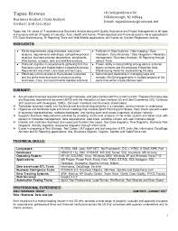Business Analyst Resume Template Word Extraordinary Guidewire Business Analyst Resume 60 On Resume