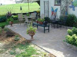 Simple Brick Patio With Circle Paver Kit Patio Designs And Ideas by Blue Stone Patio Simple Brick With Circle Paver Kit Designs And