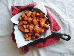 sweet potato recipes thanksgiving sesame roasted sweet potatoes the cheerful kitchen