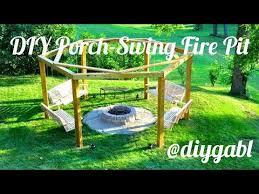 Firepit Swing Diy Porch Swing Pit