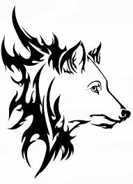 free cool tribal fox designs to draw free clip free
