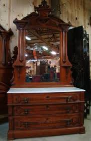 Marble Top Dresser Bedroom Set Eastlake Victorian Carved Walnut U0026 Burl Marble Top Dresser Ca 1880