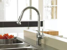 Kitchen Faucets And Sinks by Interior Impressive White Wall And Charming Hansgrohe Kitchen