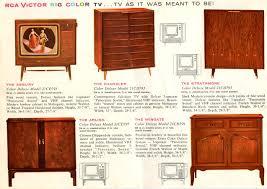 rca victor tv cabinet value steve s vintage color tv page