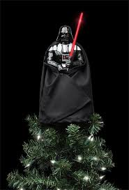 wars lighted darth vader tree topper thinkgeek