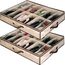 babz 2 x 12 pair underbed under bed shoes storage space saving