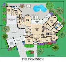 Courtyard Homes Floor Plans by Dominion Mansion House Plan Courtyard House Plan