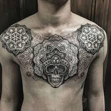 mandala skull on breast best tattoo ideas for men and women