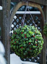 Light Up Topiary Balls - best artificial tm 28cm christmas holly topiary ball u0026 30 bright