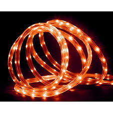 18 orange led indoor outdoor rope lights 2 bulb