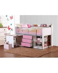 storage loft bed with desk don t miss this deal on savannah storage loft bed with desk white