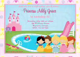 princess pool party invitation digital file 12 00 via etsy