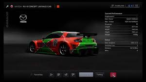 rx8 dealership gran turismo 5 mazda rx 8 concept lm race car youtube