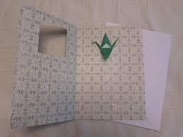 origami crane card handmade origami designs