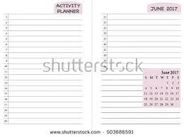 june 2017 calendar template monthly planner imagem vetorial de