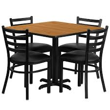 Commercial Dining Room Furniture Amazon Com Flash Furniture 36 U0027 U0027 Square Black Laminate Table Set