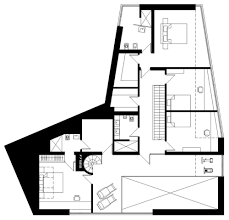 first floor plan house in the woods of kaunas lithuania