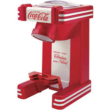 nostalgia rsm702coke coca cola single snow cone maker walmart com