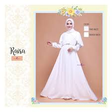 wedding dress raisa dress baju muslim terbaru