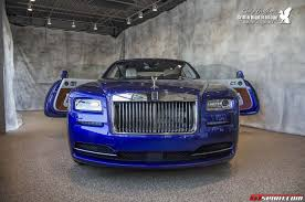 roll royce rolls royce blue rolls royce wraith at herb chambers in boston gtspirit
