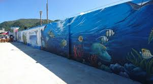 3d mural prison walls turned into 3d eco mural taiwan english news