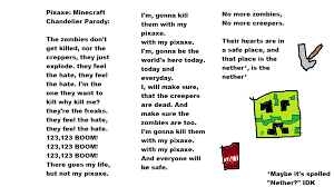 Chandelier Lyrics Minecraft Pixaxe Chandelier Lyrics By Amyrose376 On Deviantart