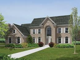 two story colonial house plans 4 bedroom 4 bath colonial house plan alp 09hp allplans