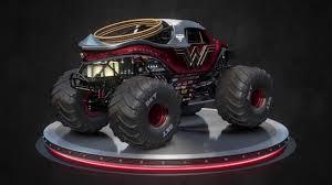 monster truck jam com wonder woman monster jam truck youtube