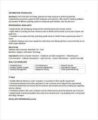 entry level it resume 35 simple it resume templates free premium templates