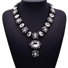 fashion design necklace images Gem crystal fashion vintage personality design necklaces jpg