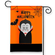 trick or treat dracula happy halloween personalized garden flag