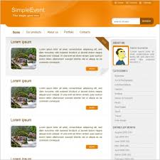 simple event template free website templates in css html js