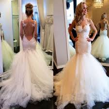 lace mermaid wedding dress mermaid trumpet straps lace wedding dress bridal gown