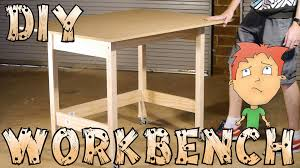 diy workbench on wheels for hobbies craft how to youtube