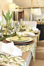 how many place settings green and white easter table setting home with holliday