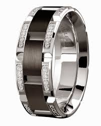 black wedding bands for him and mens diamond black wedding rings 18k white gold carlex