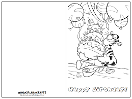 printable birthday cards that you can color free printable birthday cards for kids to color free clipart