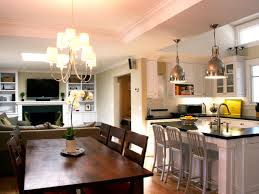 image of open plan kitchen dining room layouts of kitchen and