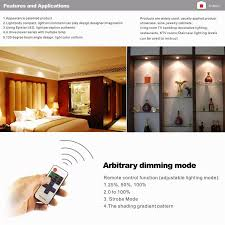 under cabinet led lights 6 lamps set with wireless rf remote