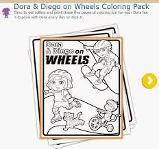 dora the explorer free printable coloring pages oh my