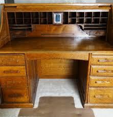 s shaped desk antique s shaped roll top railroad desk ebth